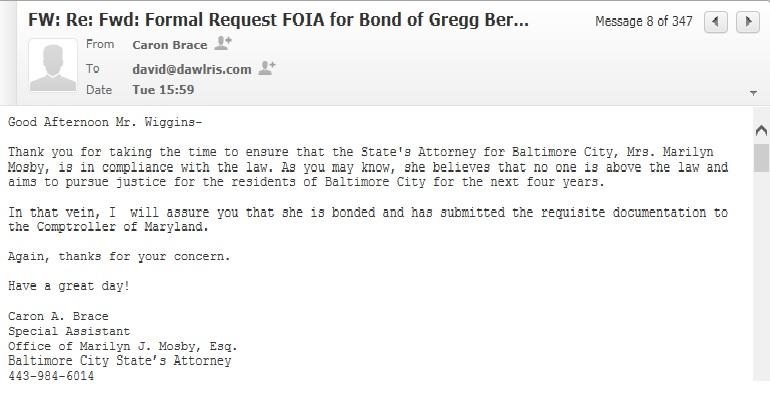 Caron Brace email(Mosby has Bond)